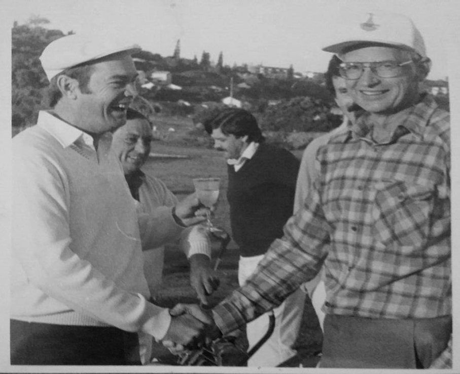 Opening of first nine holes – Lester Schoeman(right) Charles Lloyd (Left)